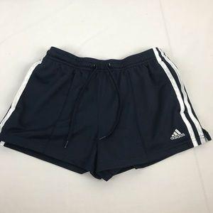 Adidas Navy Blue/White Stripe Shorts Size S